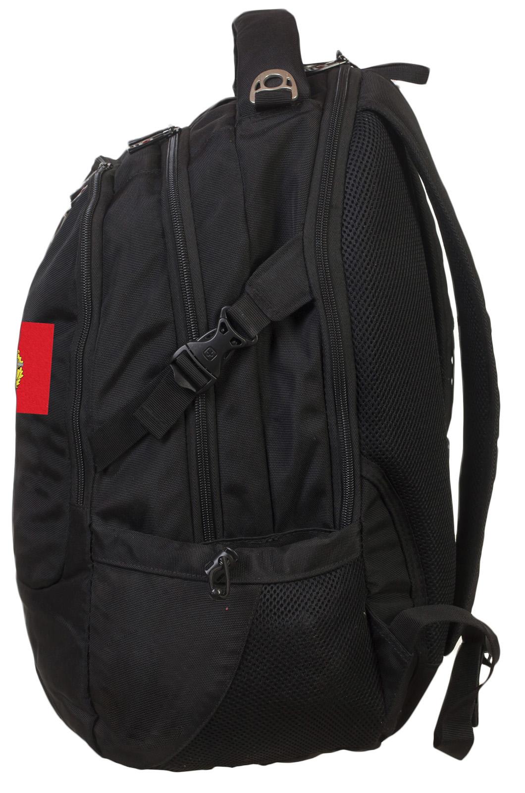 Практичный черный рюкзак с нашивкой Спецназ - заказать оптом