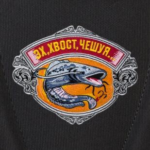 Практичный черный рюкзак  с рыбацкой фразой купить онлайн