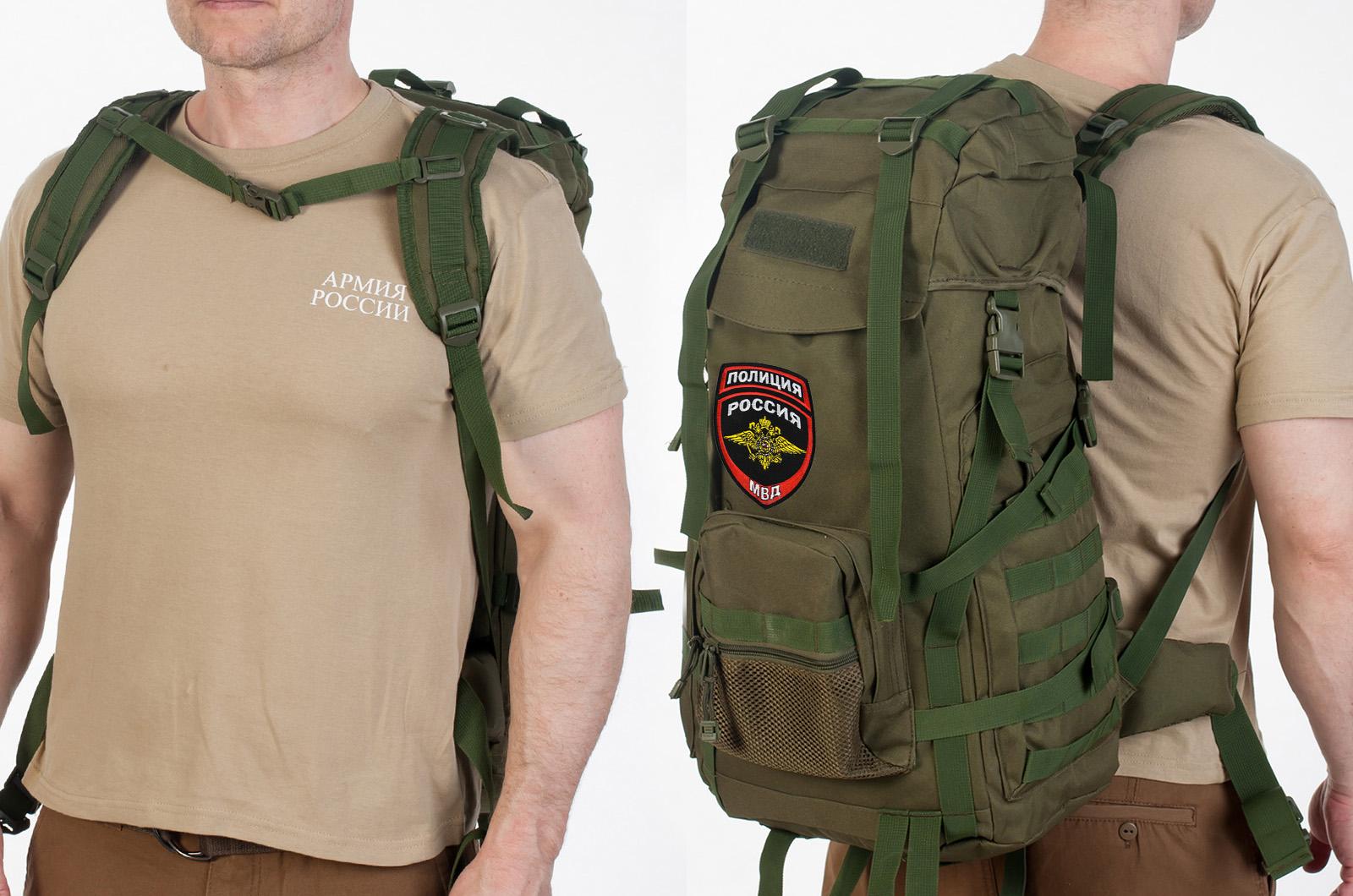 Практичный рейдовый рюкзак с нашивкой Полиция России - заказать оптом