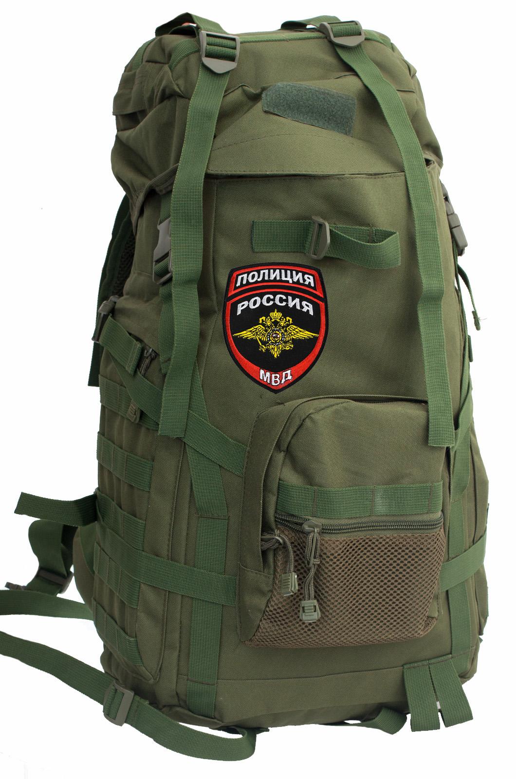 Практичный рейдовый рюкзак с нашивкой Полиция России - заказать в подарок