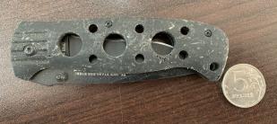 Практичный складной нож Titanium Coated