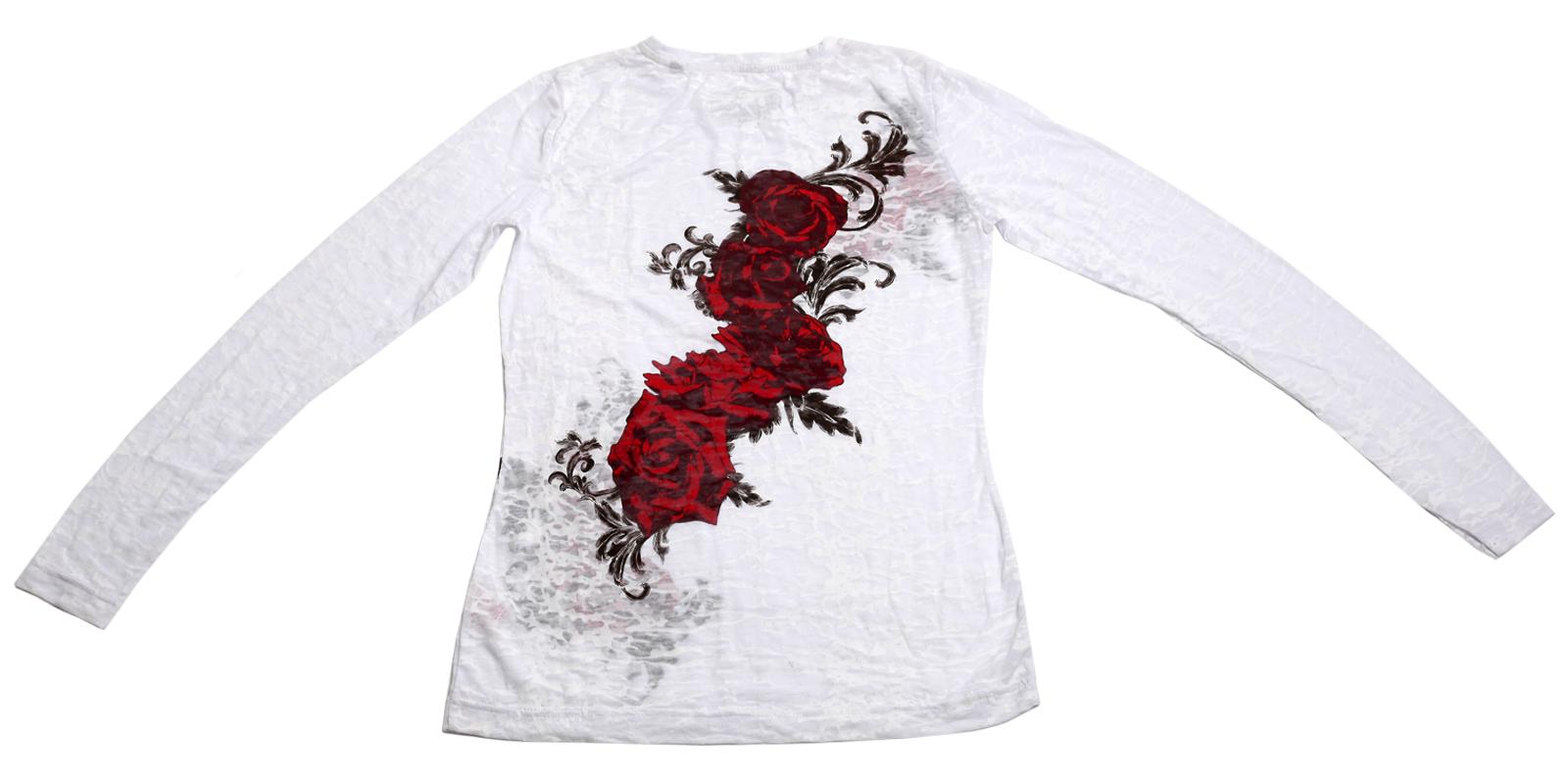 Заказать прелестную белую кофточку с розами по стандартной цене