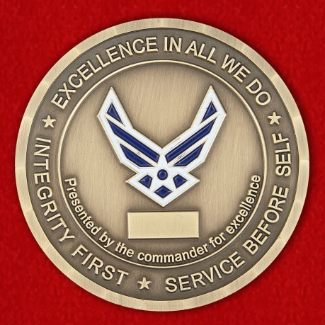 Presented by the Commander For Excellence the 792d Intelligence Support SQ Challenge Coin