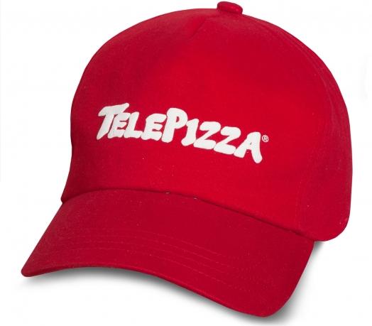 Прикольная бейсболка с надписью TelePizza.