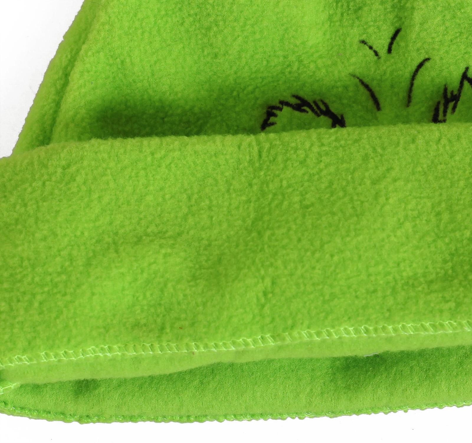 Заказать прикольную флисовую шапку Гринч утепленную флисом по низкой цене