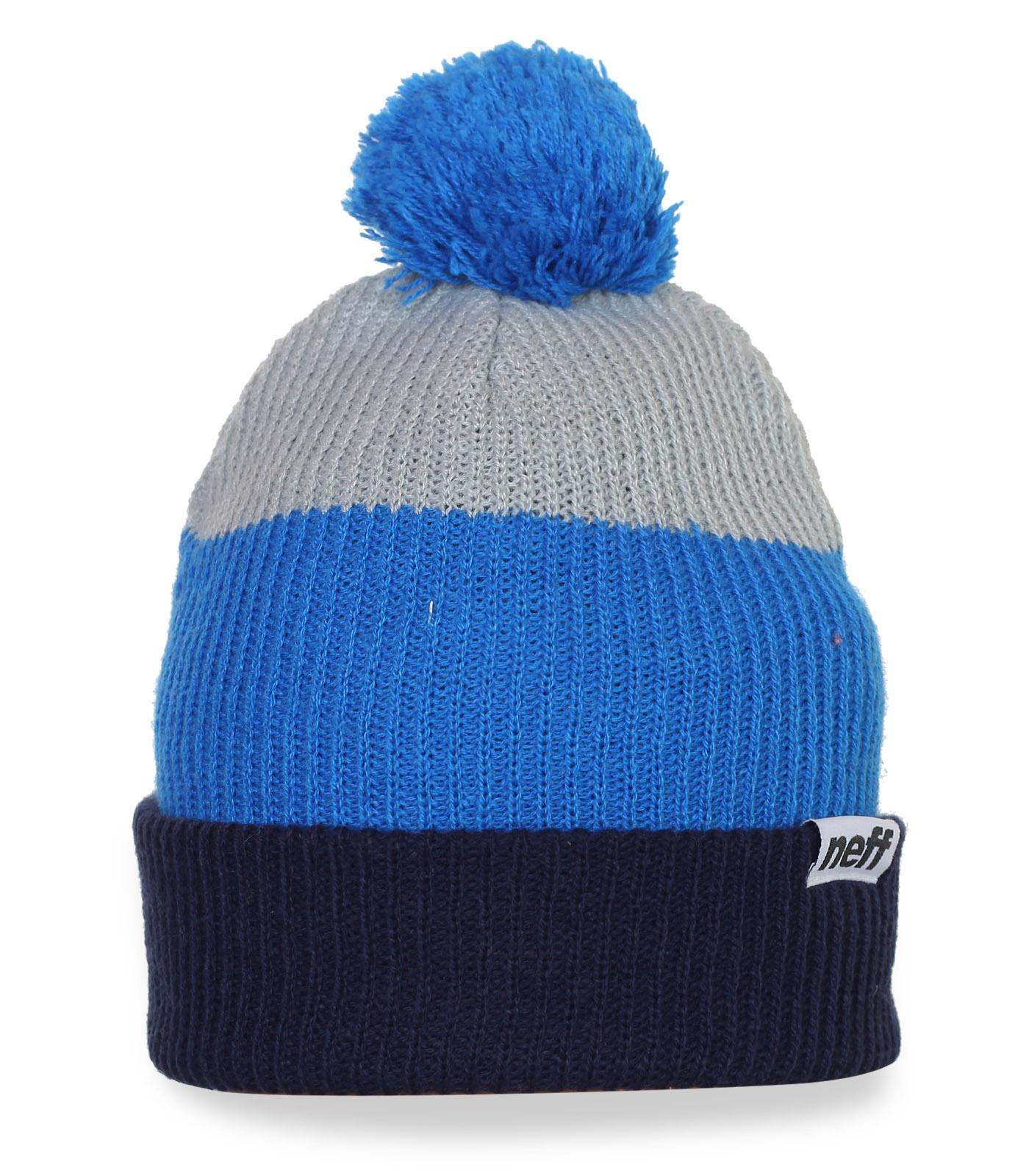Прикольная зимняя шапка с помпоном Neff