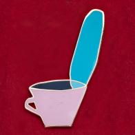 """Прикольный значок """"Чашка горячего чая"""""""