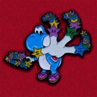 Прикольный значок для детей с динозавриком Йоши из Супер-Марио