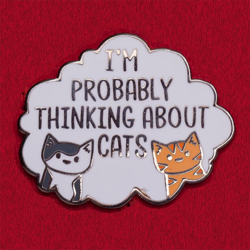 Прикольный значок для любителей котов от Doodle Cats