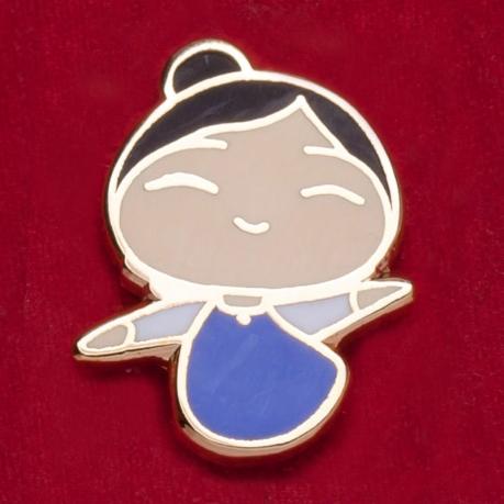 Прикольный значок для поклонников азиатских мультфильмов