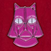 """Прикольный значок """"Розовый Дог Вейдер"""""""