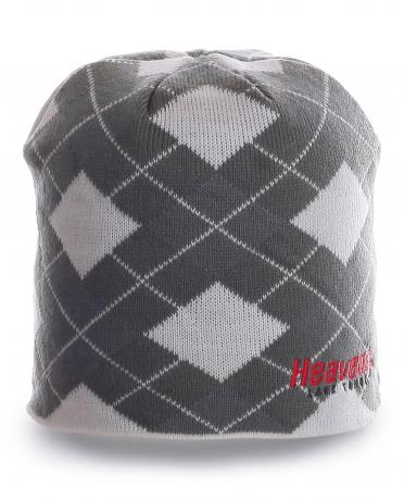 Примечательная серая шапка в клетку последней модной тенденции с флисом
