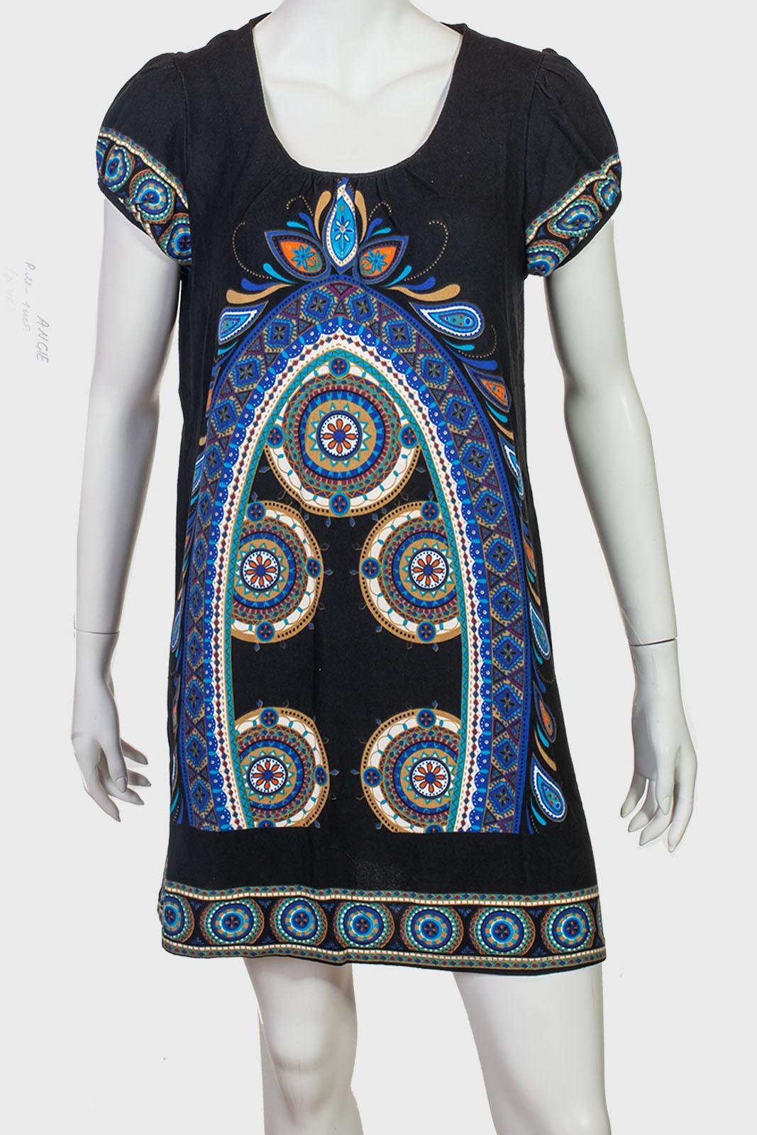 """Прямое платье с рукавом """"фонарик"""" Angie."""