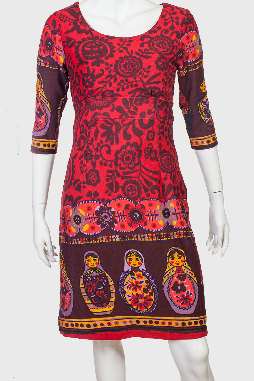 Приталенное оригинальное платье от бренда Le Grenier