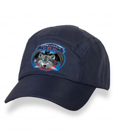 Притягательная темно-синяя бейсболка с термотрансфером Спецназ ГРУ