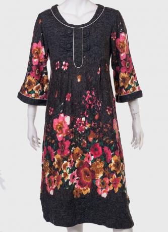 Купить притягательное платье с цветами от ZB