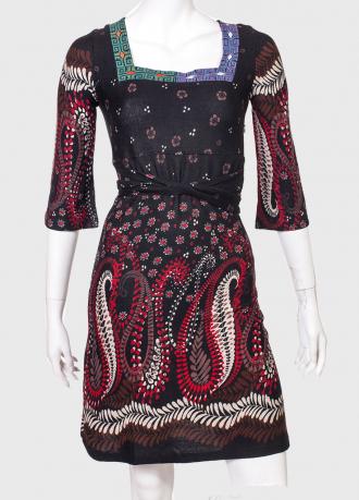 Притягательное принтованное платье с квадратным вырезом