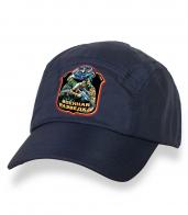 Привлекательная темно-синяя бейсболка с термонаклейкой Военная Разведка