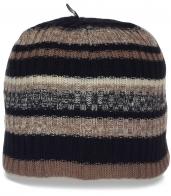 Привлекательная женская шапка на флисе. Очень теплая модель в современном стиле
