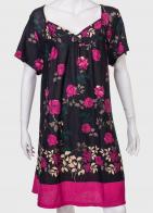 Привлекательное платье с розами