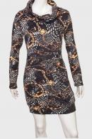 Привлекательное женское платье с воротником хомутом от Ziluz