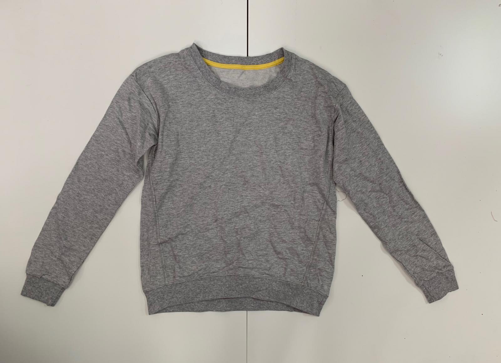 Привлекательный женский свитшот серого цвета