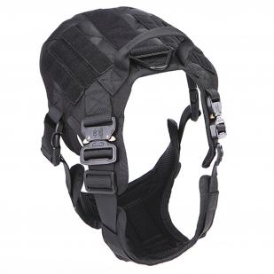 Профессиональный тактический жилет для собак Icefang Army Style Cobra (черный)