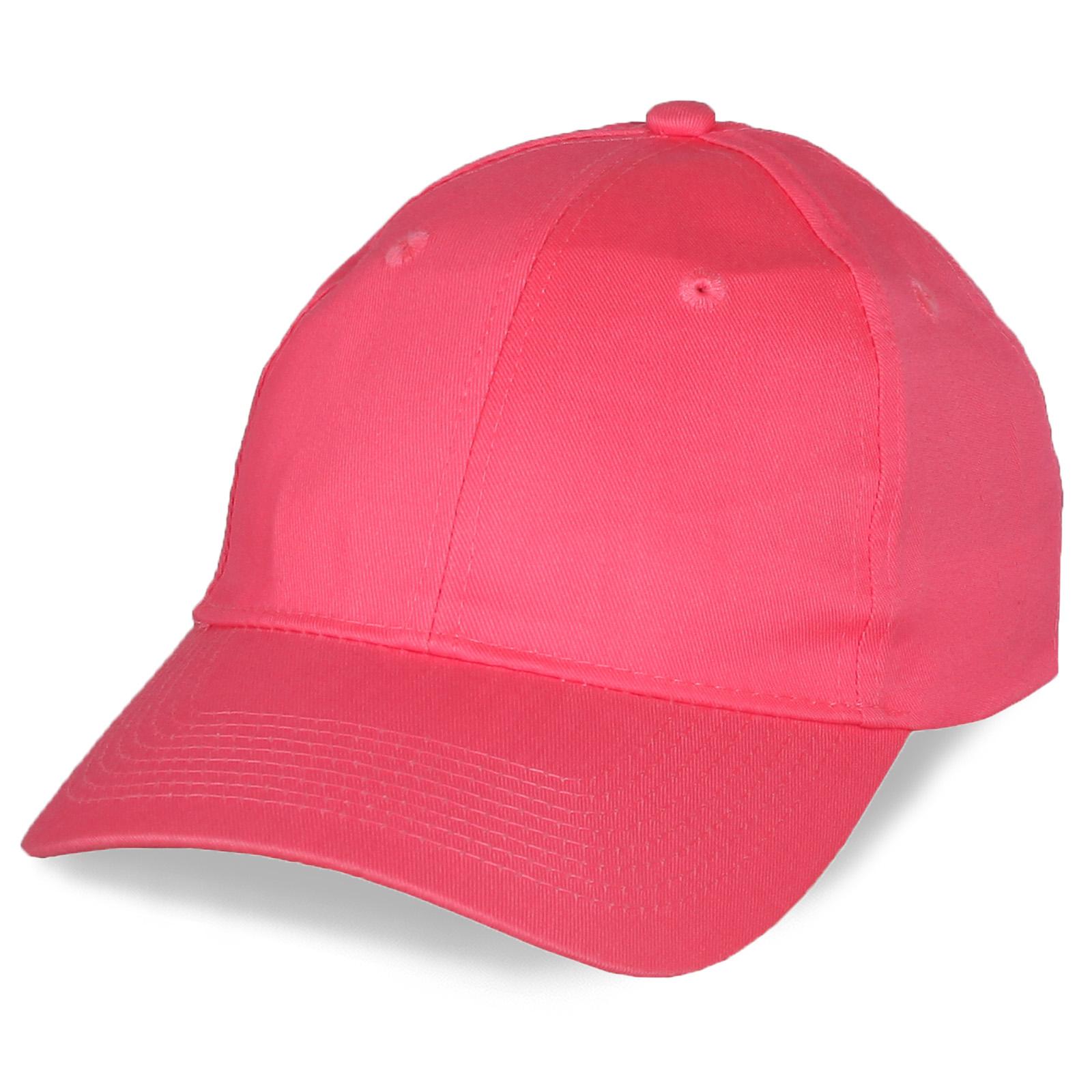 Промо-бейсболка розового цвета