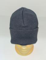 Простая серая шапка