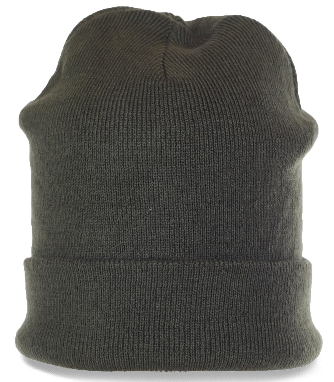 Проверенная временем традиционная трикотажная мужская шапка с отворотом. Гарантированное отменное качество и комфорт
