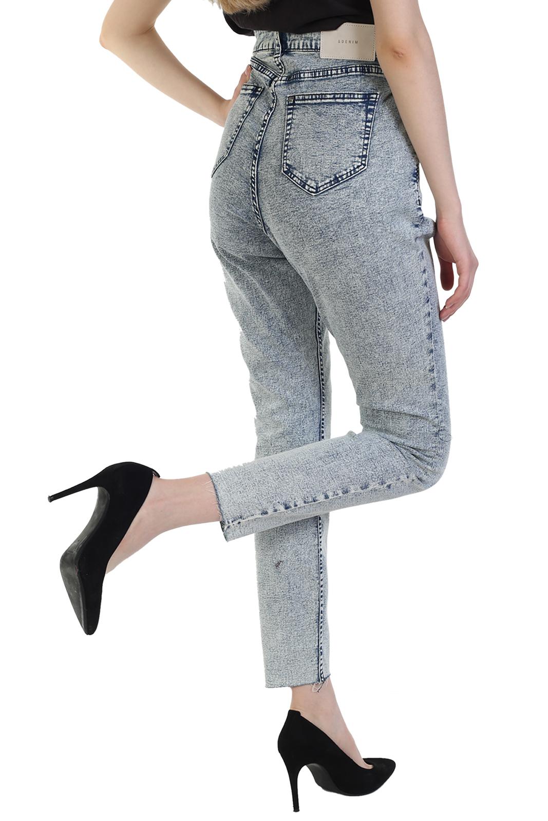 Прямые женские джинсы с высокой посадкой