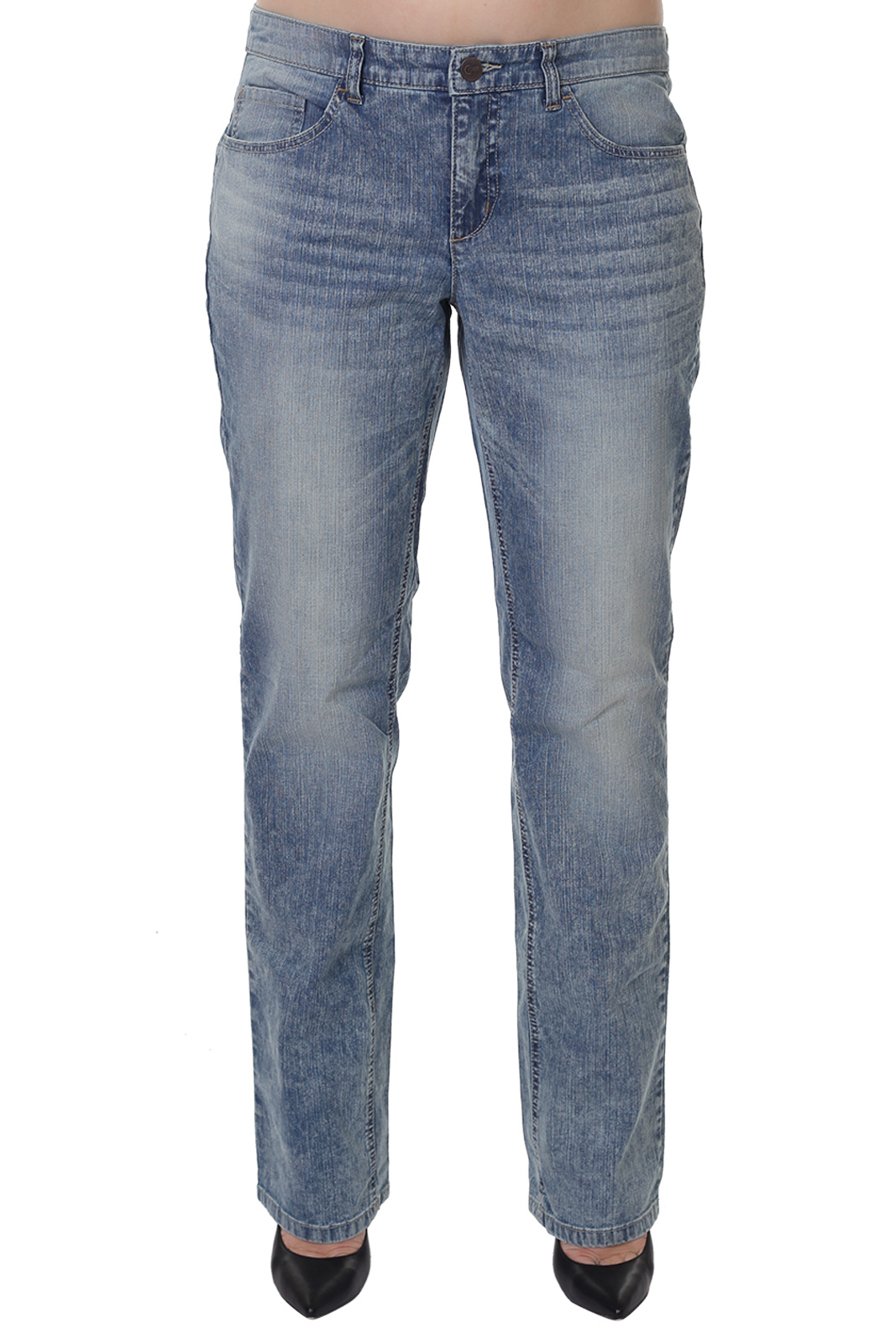 Прямые женские джинсы трубы от ТМ Sheego Denim.