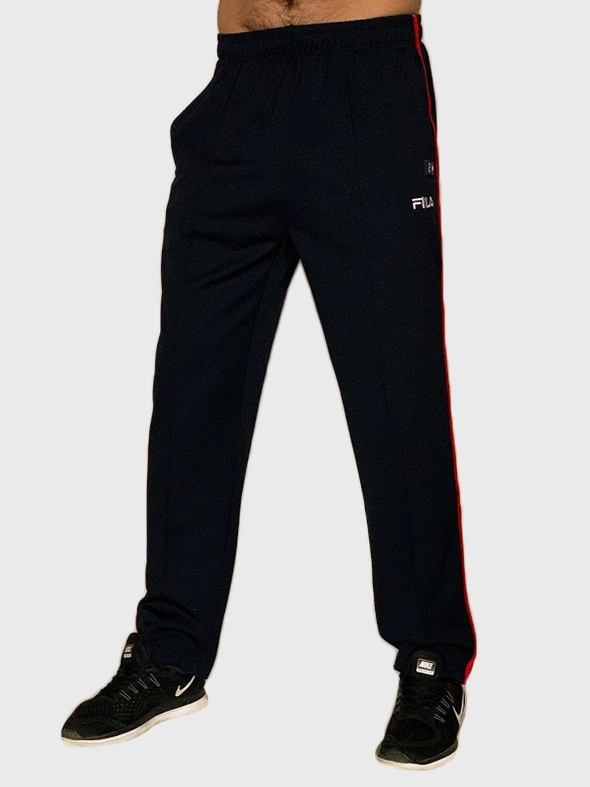 Мужские прямые спортивные штаны Fila с лампасами