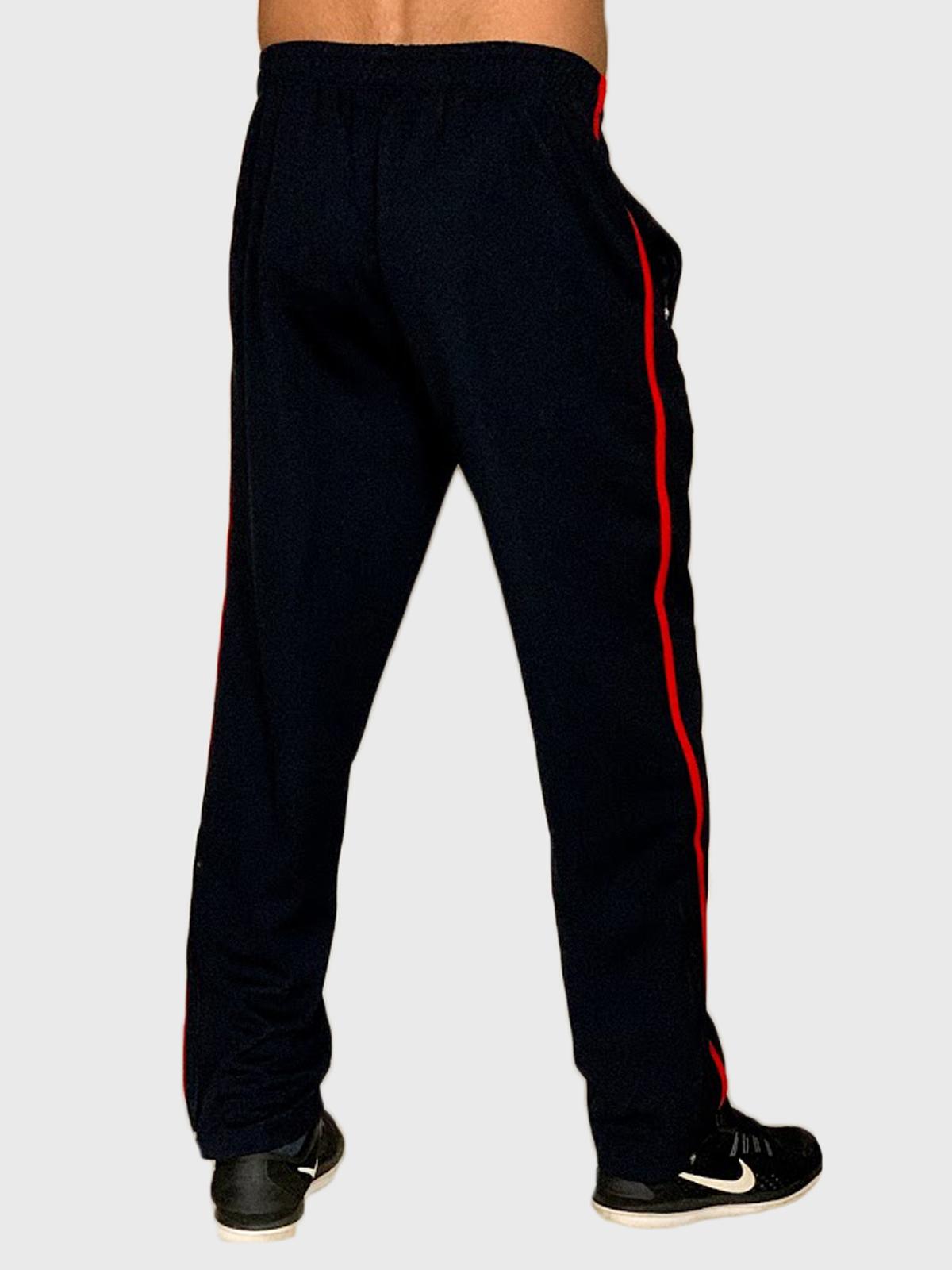 Однотонные прямые мужские штаны с лампасами