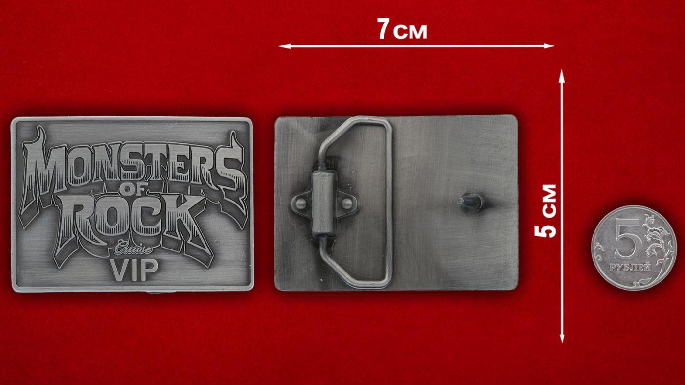 """Пряжка для ремня """"Monsters of Rock"""" - сравнительный размер"""