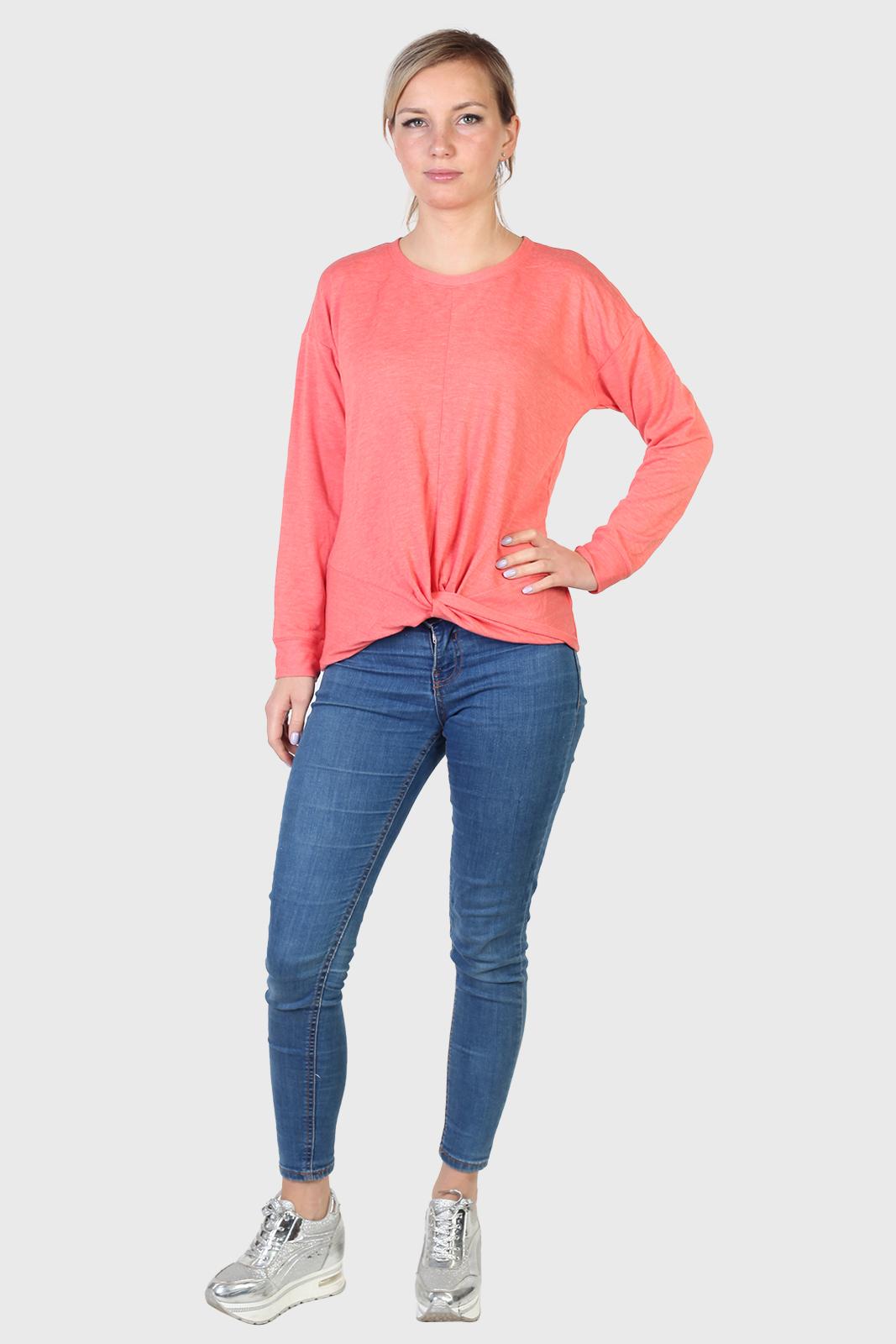 Женский нежно-розовый пуловер Eyeshadow