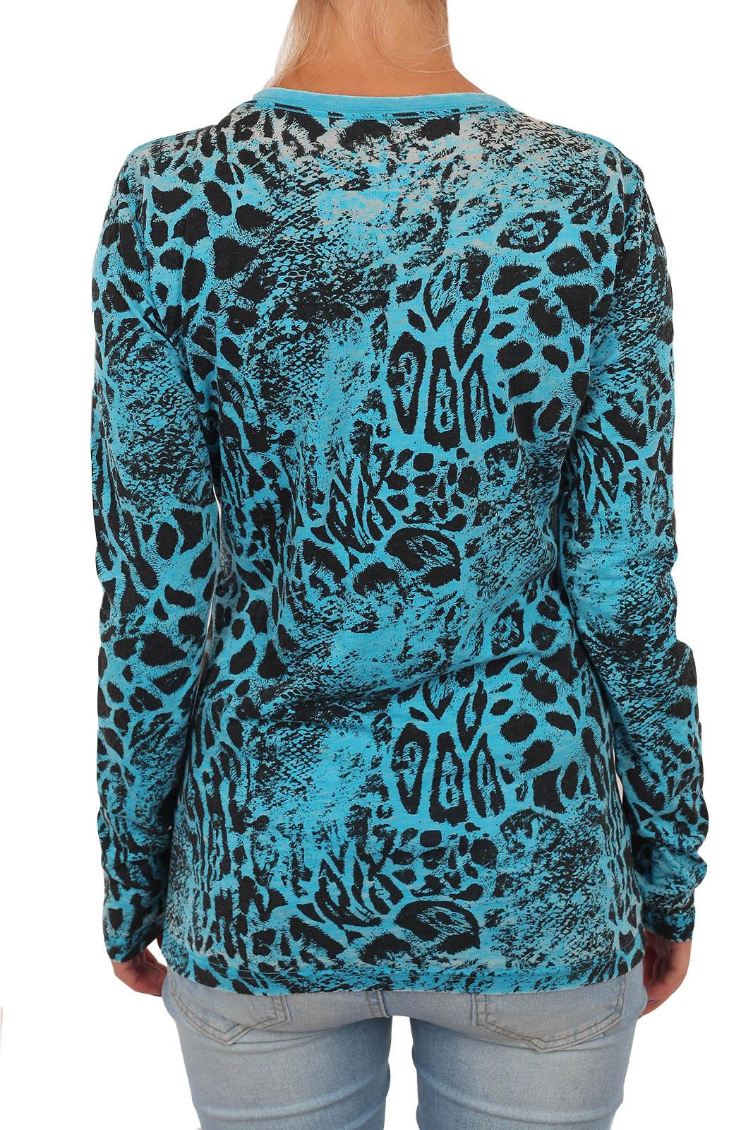 Женский пуловер с анималистическим принтом. Торговая марка Rock and Roll Cowgirl знает, чем впечатлить современную девушку