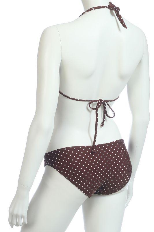 Раздельный купальник коричневый - вид сзади