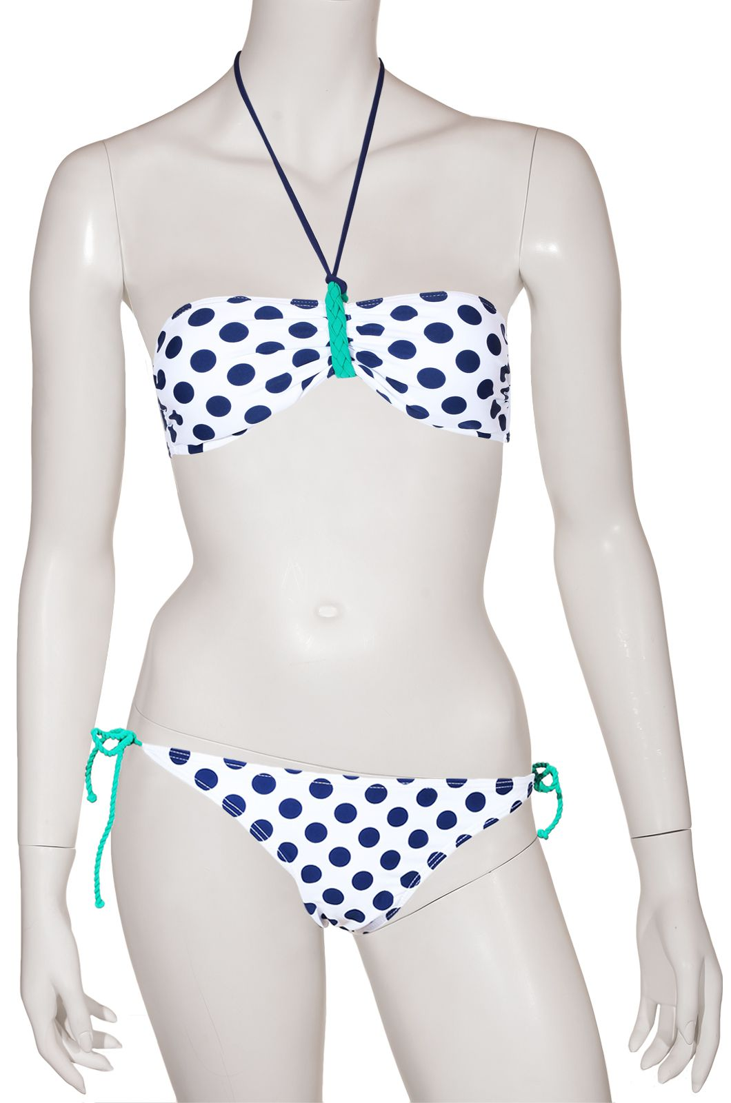 Секси купальник в синий горошек