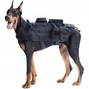 Разгрузочный жилет для служебных собак (черный)
