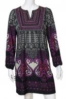 Разноцветное этно-платье средней длины