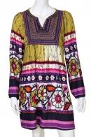 Разноцветное задорное платьице с цветочным узором