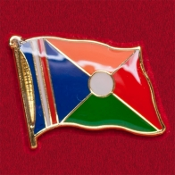 Редкий коллекционный значок с флагом