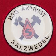 Редкий значок футбольного клуба BSG Aktivist Salzwedel, ГДР (сейчас SV Eintracht Salzwedel 09, Германия)