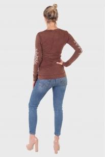 Стильный женский реглан Panhandle Slim с принтом на локтях