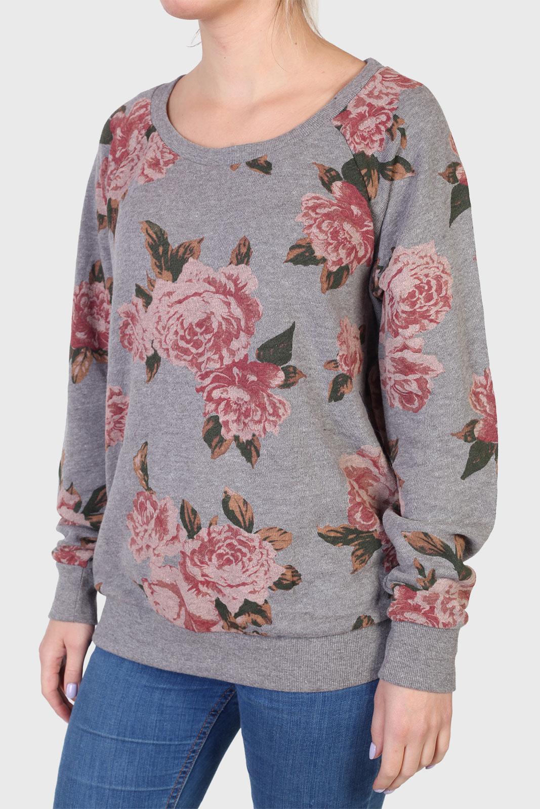 Купить в интернет магазине реглан с цветочным принтом