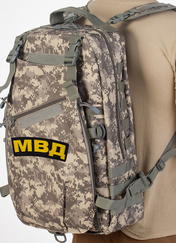 Рейдовый камуфляжный рюкзак с нашивкой МВД - купить выгодно