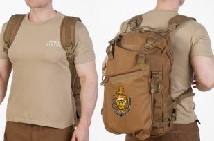 Рейдовый рюкзак хаки-песочный с эмблемой МВД оптом в Военпро