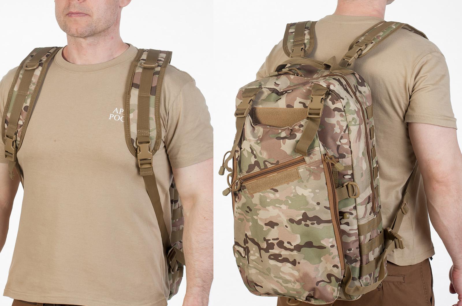 Заказать рейдовый рюкзак камуфляж Multicam