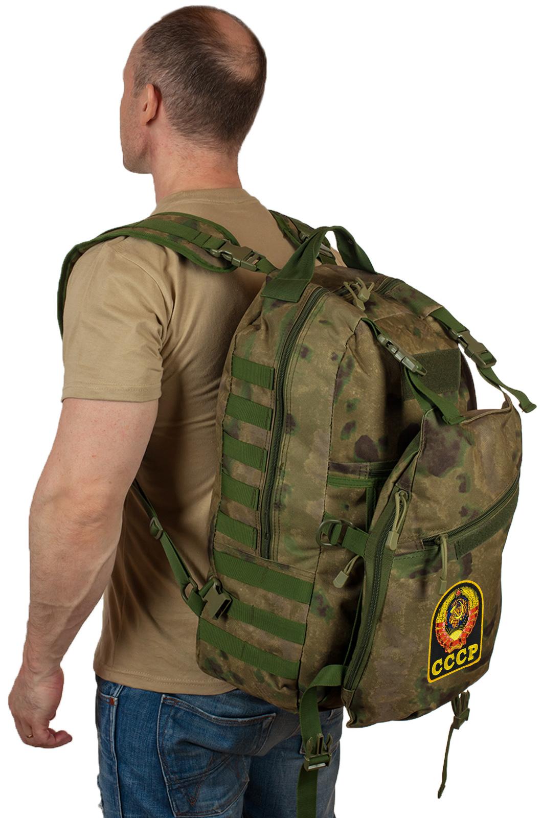 Рейдовый рюкзак камуфляж MultiCam A-TACS FG с эмблемой СССР оптом в Военпро